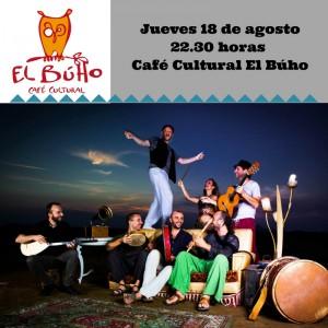 jueves 18 dea agosto 11 de la noche Café culrueal El Búho
